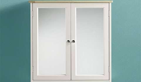 Spiegelschränke für das Badezimmer in Weiß und Fichtefarben aus Kautschukholz von mömax.