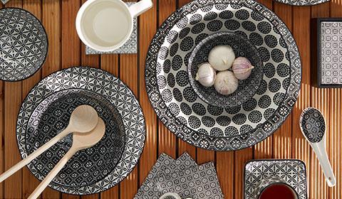 Geschirr aus Keramik im Retro-Look  kaufen bei mömax