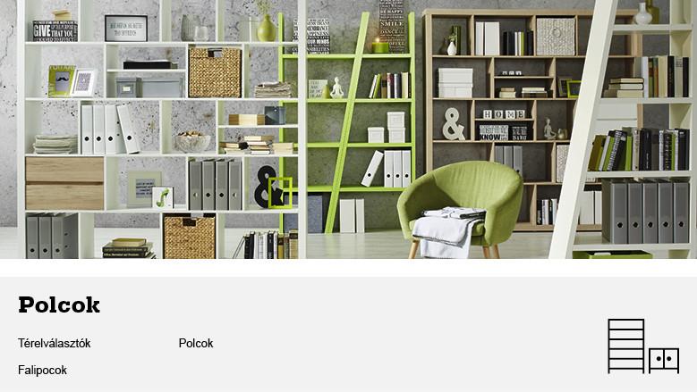 Polcok különböző modellben Mömax- kiváló bútorok,- nagy választék ...
