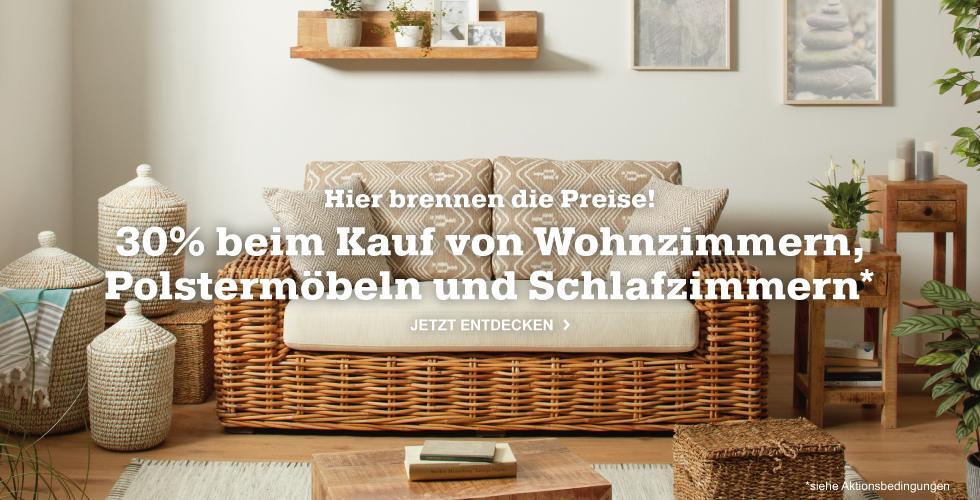 Kaufe jetzt Wohnzimmer- und Polstermöbel mit 30% Rabatt!