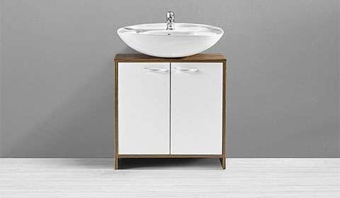 Waschbeckenunterschränke in Weiß und Braun von mömax.