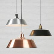 3 Lampenschirme in silber,schwarz und kupferfarben