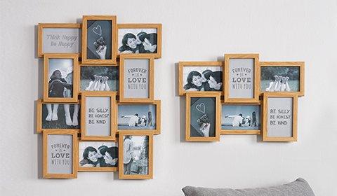 Collagen-Bilderrahmen aus Holz von mömax.