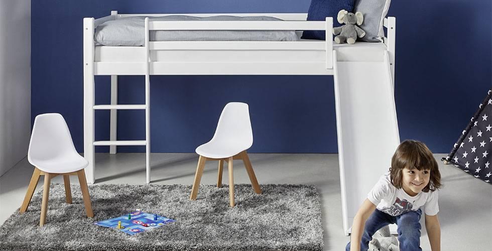 Spielbett in Weiß aus Buche und mit Rutsche günstig kaufen bei mömax.