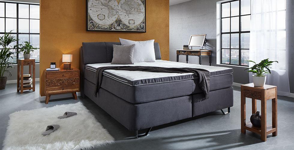 Schlafzimmer-Nachtkästchen-Nachttisch-Echtholz-Akazie-Natur-Schubladen