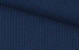 Seersucker in Blau, Detailansicht.