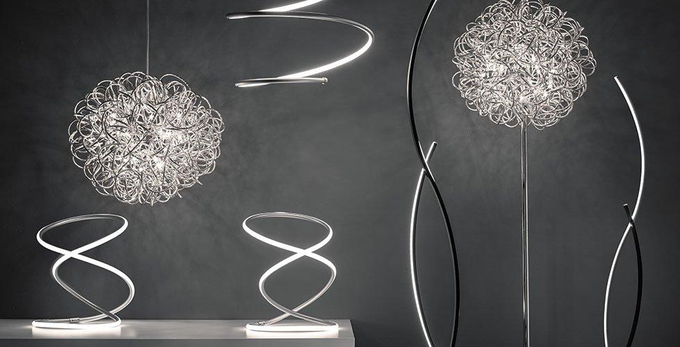 Moderne LED-Hängeleuchten und Stehleuchten im ausgefallenen Design bei mömax.
