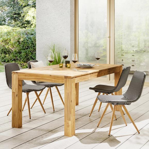 Gartentisch aus Akazie ca. 180x90cm 'Henry' - Akaziefarben, MODERN, Holz (180/90/75cm) - Bessagi Garden