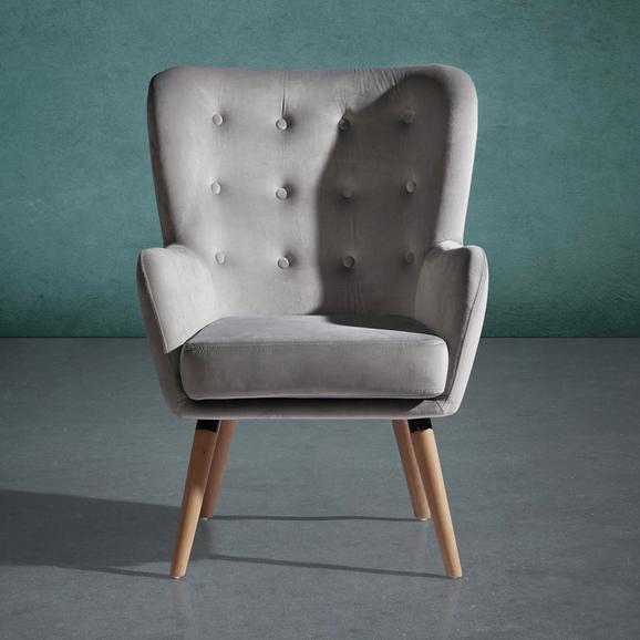 Sessel Cooper - Hellgrau, MODERN, Holz/Textil (69/95/76cm) - Mömax modern living