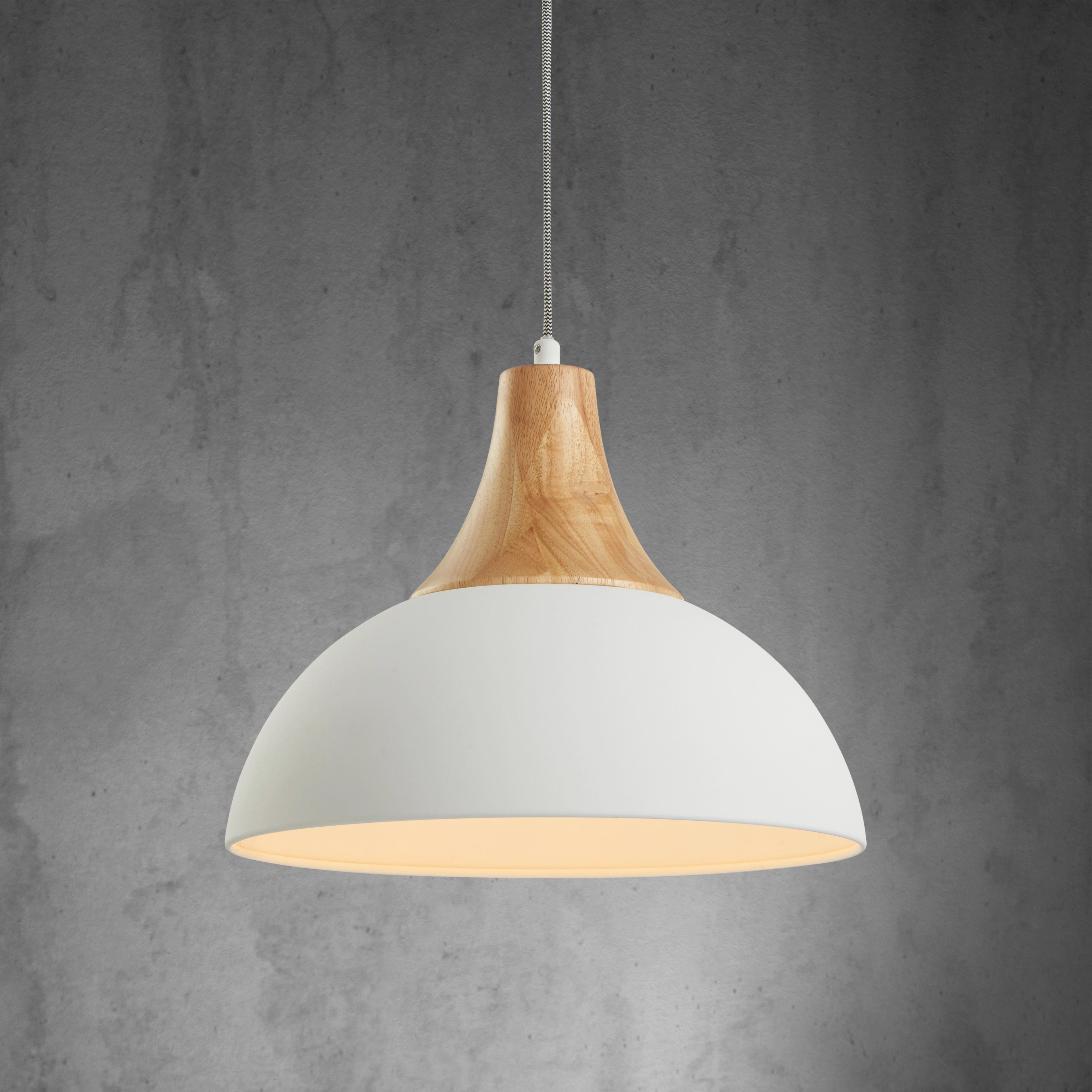 Hängeleuchte Fiona - Weiß, MODERN, Holz/Metall (37,5/120cm) - MÖMAX modern living