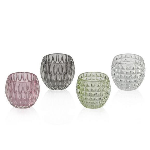 Držalo Za Čajno Svečko Soraya - roza/siva, steklo (10/8,5cm) - Mömax modern living