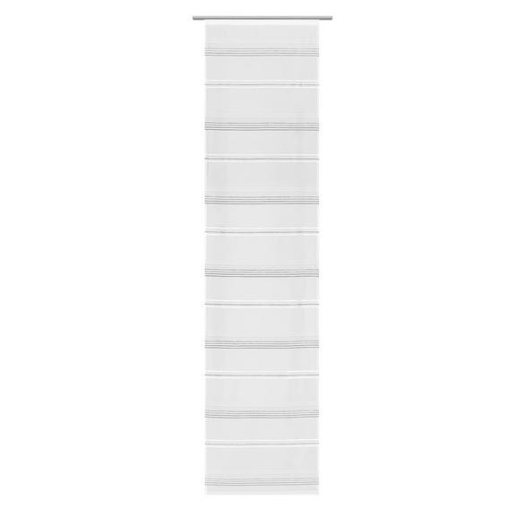 Draperie Panou Louis - alb/gri, Konventionell, textil (60/245cm) - Modern Living