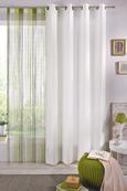 Nitasta Zavesa String - bela/zelena, tekstil (90/245cm) - Premium Living