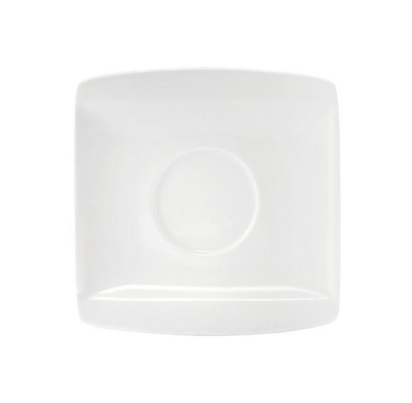 Untertasse Pura Espresso aus Porzellan - Weiß, LIFESTYLE, Keramik (10,7/10,8cm) - Premium Living