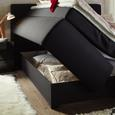 Boxbett in Schwarz ca. 180x200cm - Wengefarben/Schwarz, KONVENTIONELL, Holz/Holzwerkstoff (180/200cm) - Modern Living