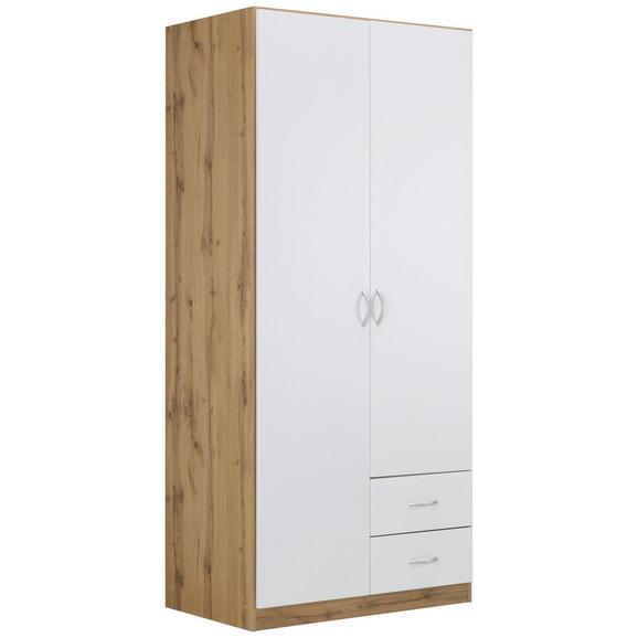 Kleiderschrank in Eichefarben - Alufarben, MODERN, Holzwerkstoff/Kunststoff (91/197/54cm) - Modern Living
