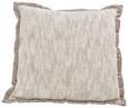 Zierkissen Yvonne Taupe 45x45 cm - Taupe/Naturfarben, MODERN, Textil (45/45cm) - Mömax modern living