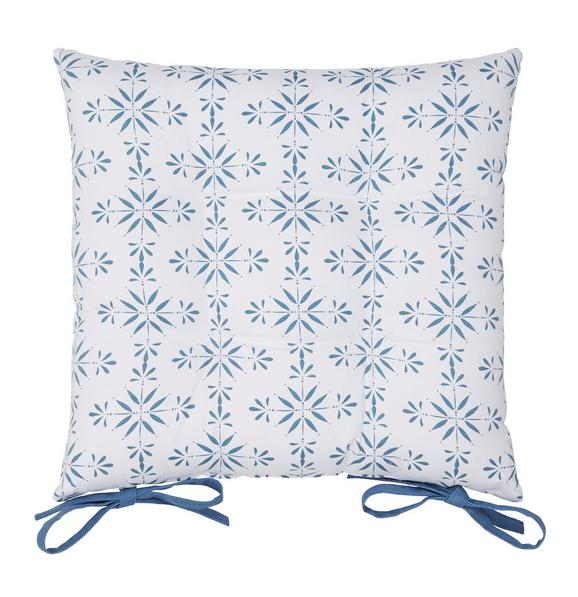 Sitzkissen Agnes Blau 40x40cm - Blau, MODERN, Textil (40/40cm) - Mömax modern living