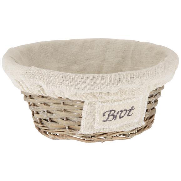 Košarica Za Kruh Bretagne - naravna, Romantika, tekstil/naravni materiali (24/10cm)