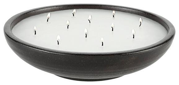 Kerze Im Topf Ian Schwarz/Weiß - Schwarz/Weiß, LIFESTYLE, Keramik (30 7,5 cm) - Mömax modern living