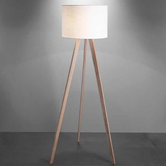Stehleuchte Larissa - Chromfarben/Eschefarben, Holz/Textil (45/160cm) - MÖMAX modern living