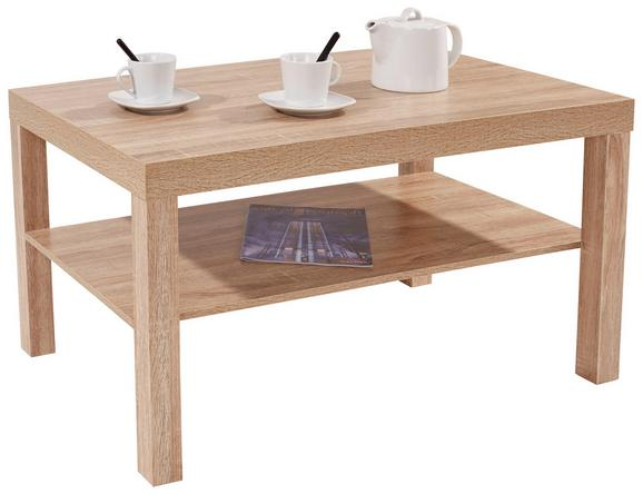 Dohányzóasztal Light - Sonoma tölgy, modern, Faalapú anyag (90/45/55cm)