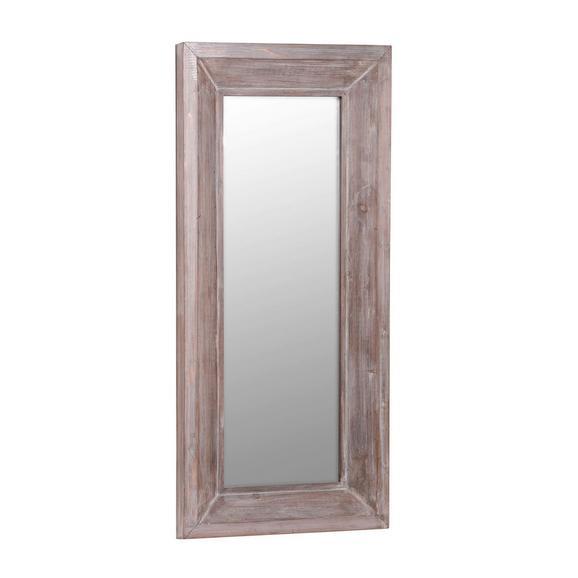 Stensko Ogledalo Reflection - rjava, Moderno, les (70/150/7cm)