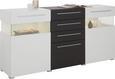 Sideboard Weiß/Graphit Matt - Chromfarben/Graphitfarben, MODERN, Holzwerkstoff/Kunststoff (180/88/43cm) - Modern Living