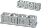 Držalo Za Čajno Svečko Home & Love - bela, steklo/leseni material (30/7,5/7,5cm) - Modern Living