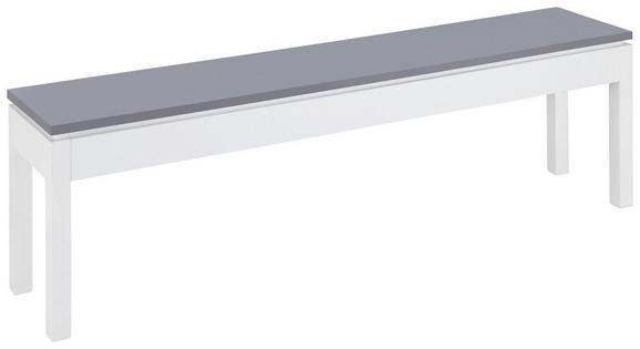 Sitzbank Liana - Weiß/Grau, MODERN, Holz (150/45,5/30cm) - MÖMAX modern living