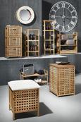 Samostoječ Obešalnik Udo - bela/rjava, Trendi, leseni material/les (43/183/43cm) - Mömax modern living