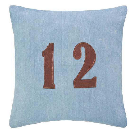 Kissen Twelve ca.50x50cm in Blau - Blau, MODERN, Textil (50/50cm) - Premium Living