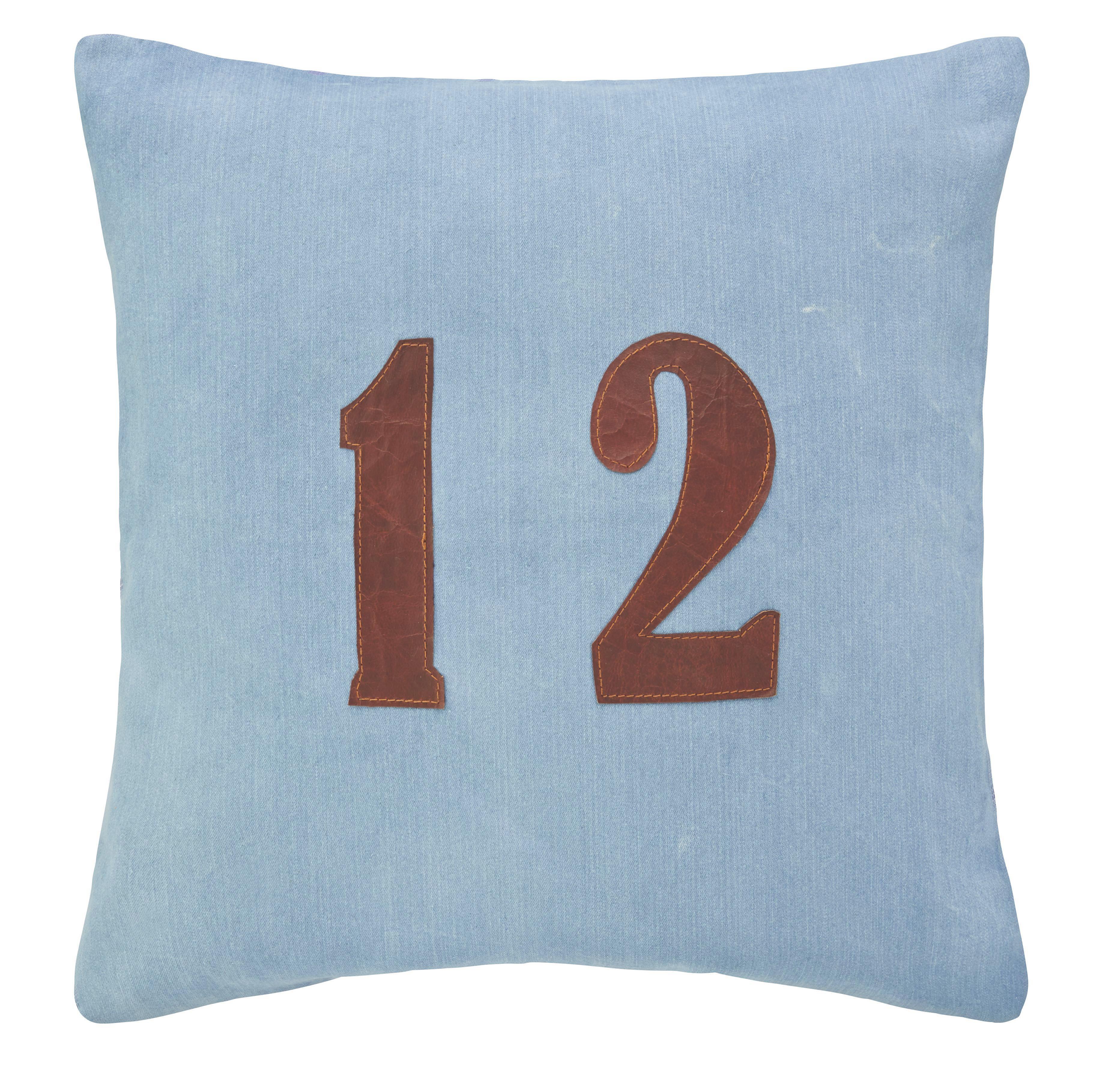 Zierkissen Twelve 50x50cm - Blau, MODERN, Textil (50/50cm) - premium living
