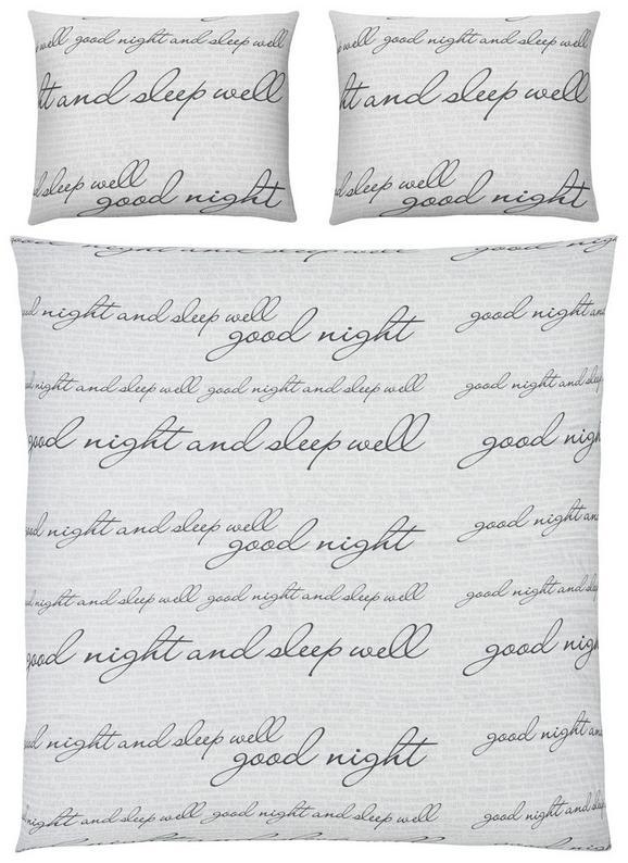 Bettwäsche Sleepwell ca. 135x200cm - Schwarz/Weiß, Textil (135/200cm) - Mömax modern living