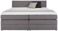 Boxspringbett Grau 140x200cm - Schwarz/Grau, Kunststoff/Textil (202/148/90,5cm) - Modern Living