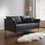 Sofa in Grau 'Valeria' - Grau, MODERN, Holz/Textil (192/75/93cm) - Bessagi Home