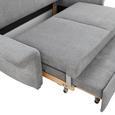 SCHLAFSOFA Grau - KONVENTIONELL, Holzwerkstoff (186/90/95cm) - Premium Living