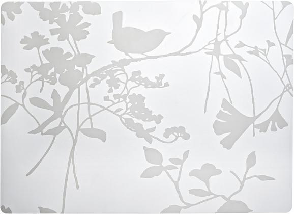 Tischset Birdy Weiß - Weiß, Kunststoff (33/45cm) - Mömax modern living