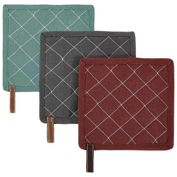 Edényfogók Marc - Bordó/Türkiz, modern, Textil (20/20cm) - Mömax modern living