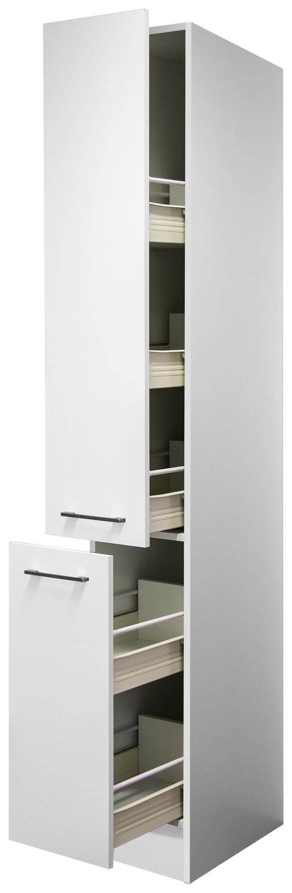 Izvlečna Omara Veneneo - bela/nerjaveče jeklo, Moderno, kovina/leseni material (30/200/57cm)
