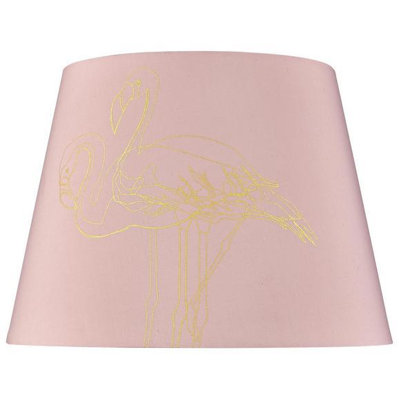Leuchtenschirm Golden Couple Rosa - Rosa, LIFESTYLE, Textil (35cm) - Modern Living
