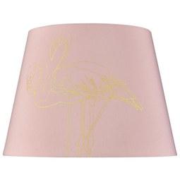 Senčnik Za Svetilko Golden Couple - roza, Trendi, tekstil (35cm) - Modern Living