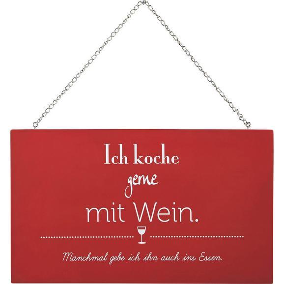 Dekoschild Reimi in Rot/Weiß - Rot/Weiß, MODERN, Holzwerkstoff/Metall (23/13,5/0,5cm) - Mömax modern living