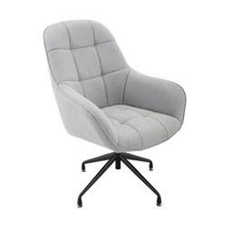 Sessel in Grau - Schwarz/Grau, MODERN, Textil/Metall (73/100/75cm) - Modern Living