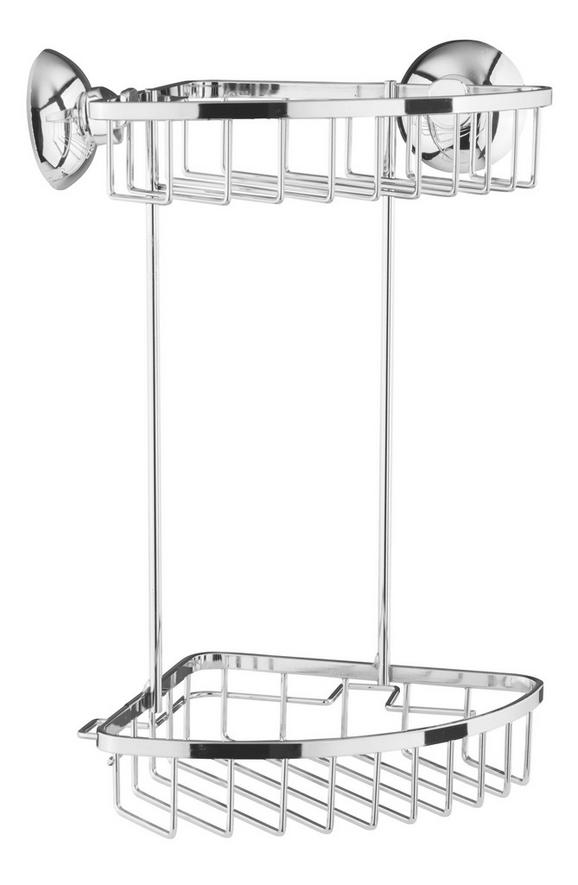 Duschregal Lesley - Chromfarben, Metall (17,5/30/17,5cm) - Mömax modern living