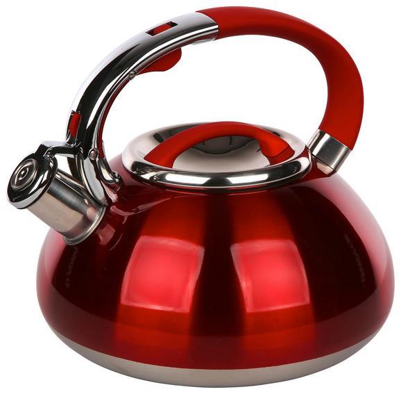 Čajnik Schicky - rdeča/srebrna, kovina/umetna masa (3l)