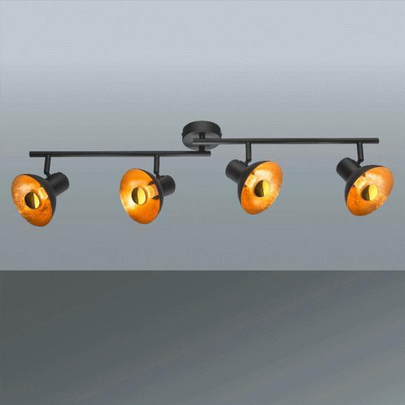 Led-reflektor Goldy - črna/zlata, Trendi, kovina (89/17,6cm)
