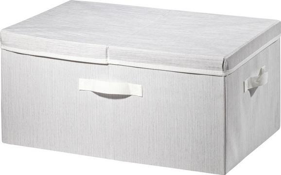 Aufbewahrungsbox Sonia Hellgrau - Hellgrau, MODERN, Textil (55/38/26cm) - Mömax modern living