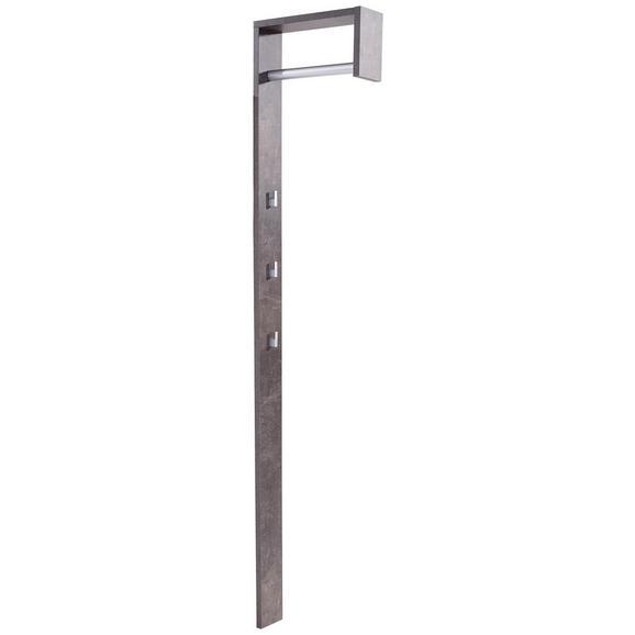 Garderobni Panel Senex - temno siva, Moderno, leseni material (10/170/33cm) - Mömax modern living