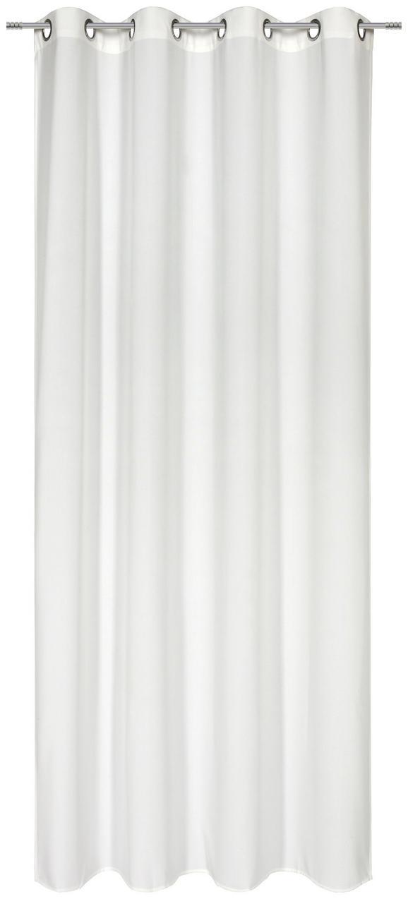 Ösenvorhang Ulli in Weiß, ca. 140x245cm - Creme, Textil (140/245cm) - MÖMAX modern living